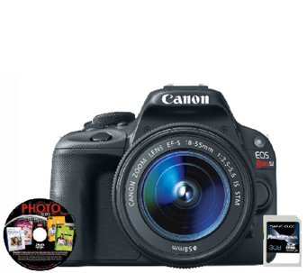 Canon EOS Rebel SL1 18 MP Digital SLR Camera, Card & Software - E281499