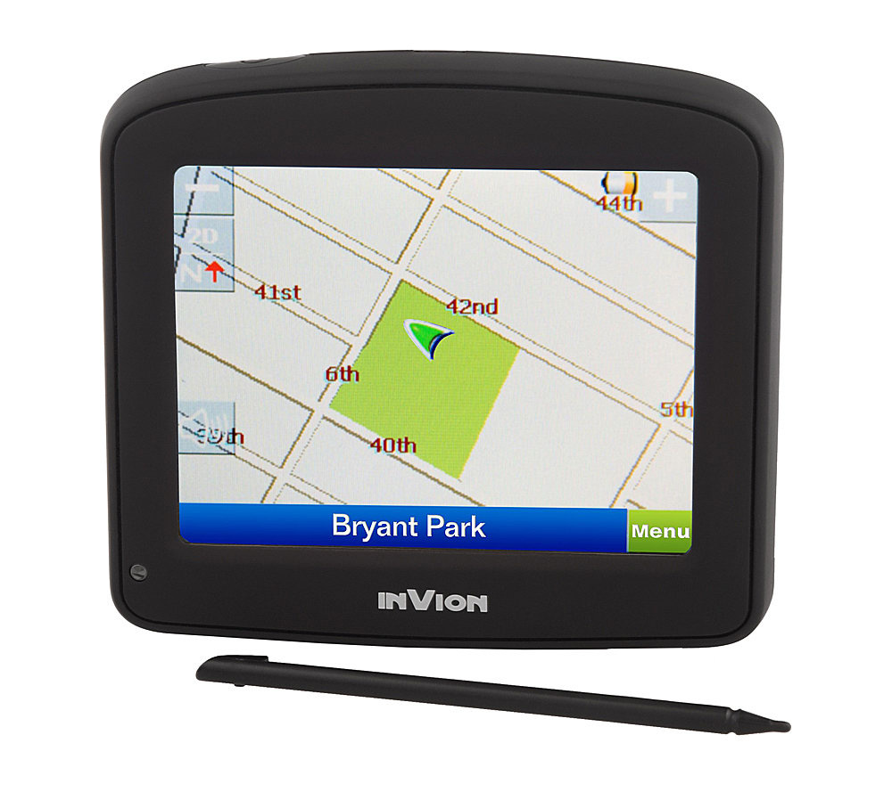 Invion Gps Navigation System W   Screen And Text To Speech Page  Qvc Com