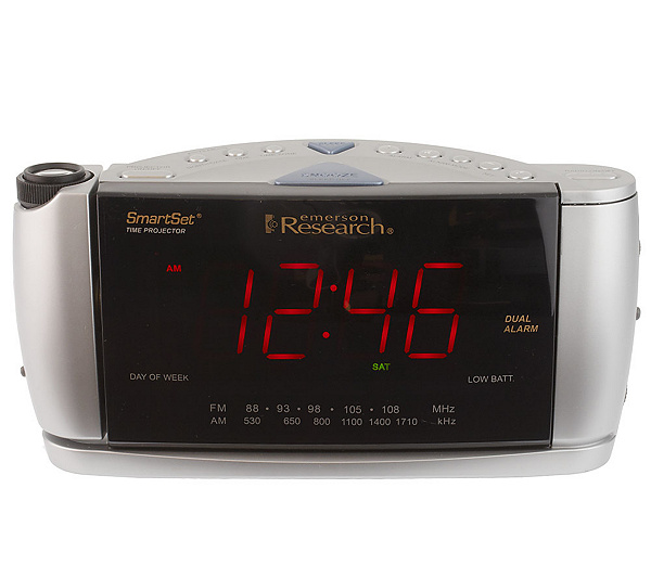 emerson projection alarm clock