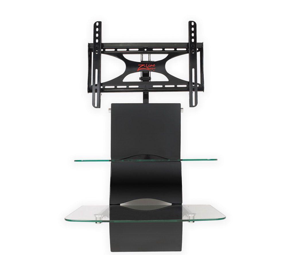 Z Line Blackhawk Wall Furniture Sys W/Integrated Mount   Black U2014 QVC.com