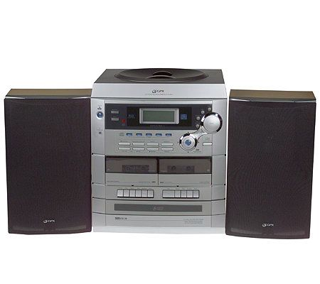 GPX Stereo System W/5 CD Changer, Dual Cassette U0026 Turntable U2014 QVC.com