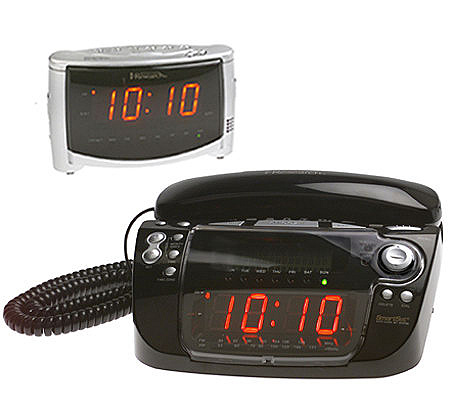 alarm clock radio phone combination unique alarm clock. Black Bedroom Furniture Sets. Home Design Ideas