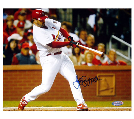 Jeff Suppan NLCS Gm 3 Home Run Signed 8x10 Photo