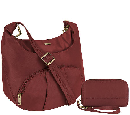 Travelon Anti-Theft Round Hobo with RFID Wristlet