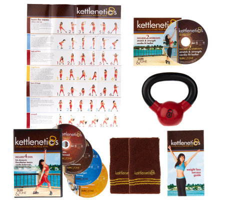 Kettlenetics Slim & Tone Total Body System w/5 DVDs & Weighted Bell