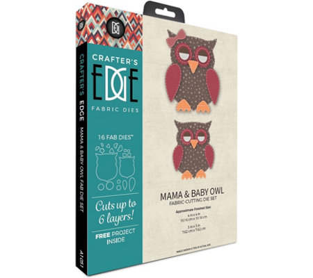 Crafter's Edge Mama & Baby Owl Fabric Cutting Dies