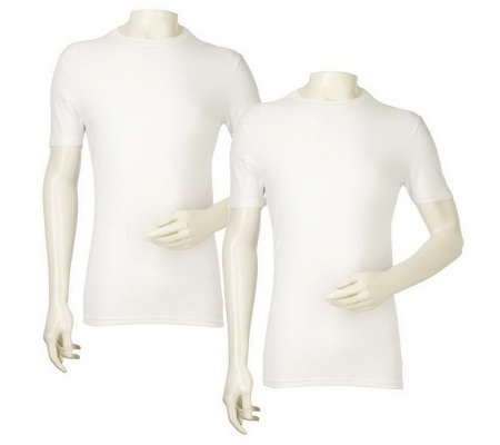 Set of 2 Stay Tucked Undershirts by Tommy John