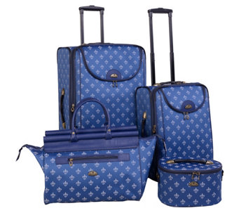 American Flyer Fleur de Lis 4-Piece Luggage Set - F249206