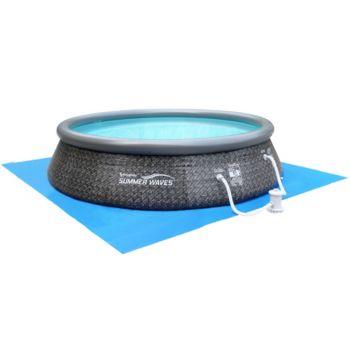 Quick Set Inflatable 12' Swimming Pool with LED Duck and Pump