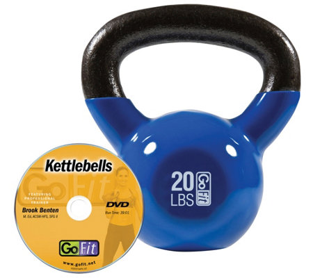 GoFit Kettelbell & Iron Core Training DVD (20 lbs/Blue)