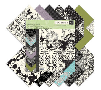 "Designer Double-Sided Paper Pad 12"" x 12"" -Black&Ivory Fusion - F247308"
