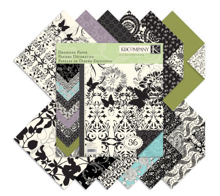 "Designer Double-Sided Paper Pad 12"" x 12"" -Black&Ivory Fusion"