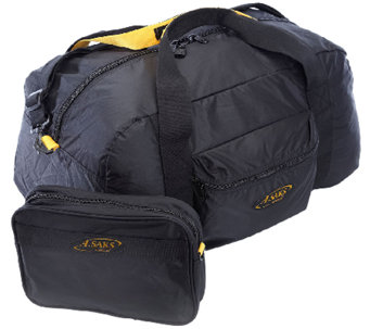 A.Saks 22-inch Lightweight Carry-on Parachute Nylon Duffel Bag - F249108
