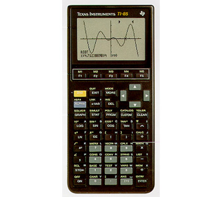 Texas instrument ti 85 graphing calculator for Ti 85 table of values
