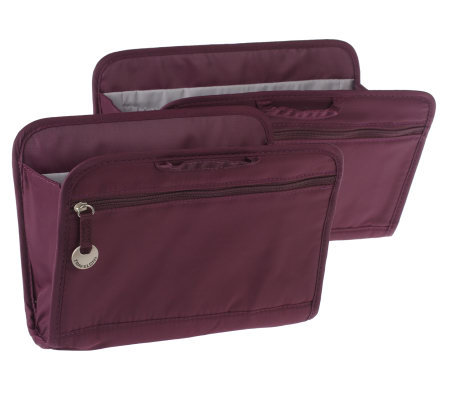 Travelon Set of 2 RFID Portable Purse Organizers with Pockets