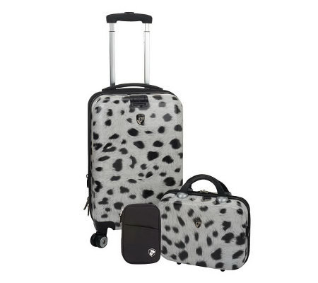 "Heys 22"" Spinner and Beauty Case Hardside Luggage Set"