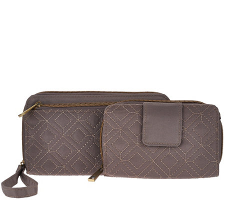 Travelon Quilted RFID Wallet Set