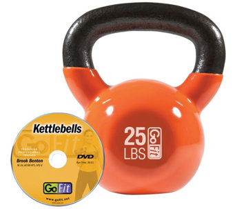 GoFit Kettelbell & Iron Core Training DVD (25 lbs/Orange) - F195410