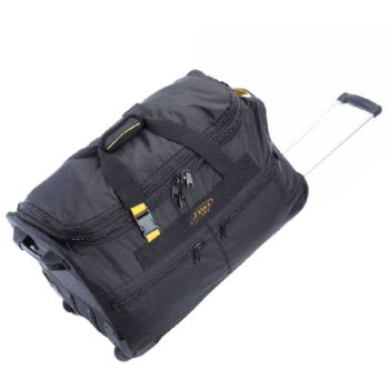 A. Saks 25-inch Expandable Wheeled Upright Duffel Bag