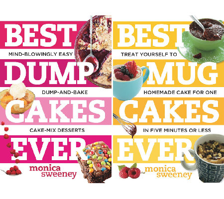 """Best Dump and Mug Cakes Ever"" 2-Set Cookbook by Monica Sweeney"
