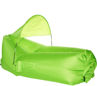 PouchCouch Inflatable Couch w/Sun Shade & Pockets Shade & Pockets - F12511