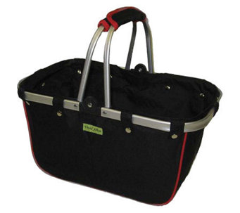 Janet Basket Black/Red Large Aluminum Frame Basket - F246812
