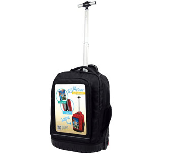 "Travelers Club 18"" Personalized Rolling LaptopBackpack - F249412"