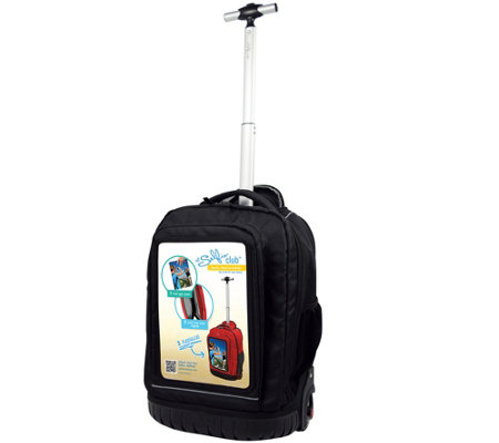 "Travelers Club 18"" Personalized Rolling LaptopBackpack"