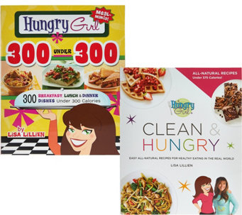Hungry Girl 300 Under 300 & Hungry Girl Clean & Hungry Cookbook Set - F12413