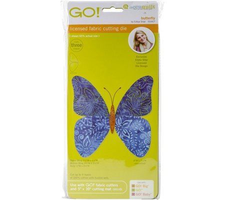 AccuQuilt GO! Fabric Cutting Dies - Butterfly By Edyta Sitar