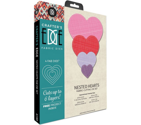 Crafter's Edge Nested Hearts Fabric Cutting Dies