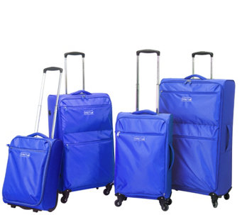 Travelers Club 4-Piece Super-Lite Spinner Luggage Set - Cloud - F249414