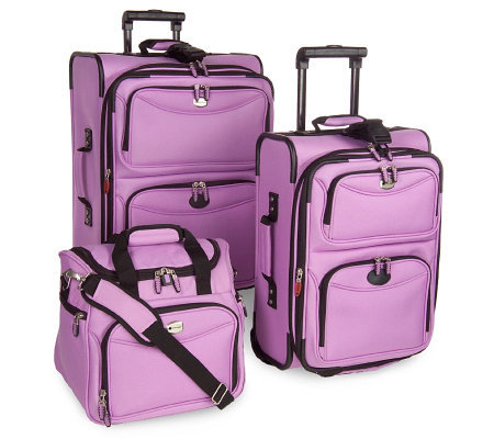 Delsey 3pc 1800 Denier Ultra-Light Expandable Luggage Set — QVC.com