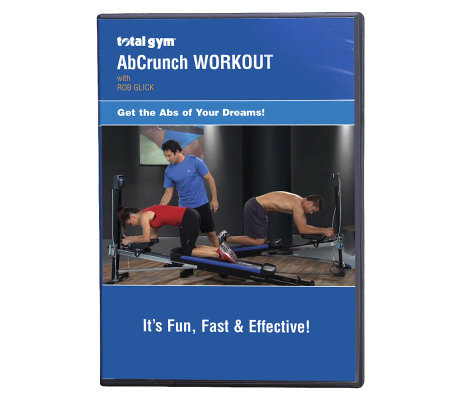 Total Gym Ab Crunch DVD with Trainer Rob Glick