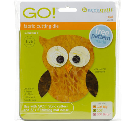 AccuQuilt GO! Fabric Cutting Dies - Owl