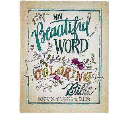 Beautiful Word NIV Coloring Bible - Page 1 — QVC.com