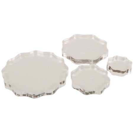 Apple pie memories acrylic stamp block round set of 4 for Large acrylic block