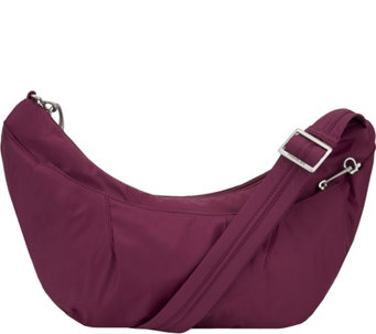Travelon Anti-Theft Crescent Sling Hobo Bag with RFID - F12319