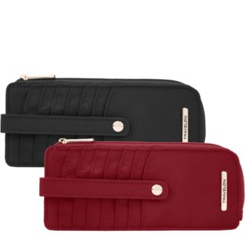 Travelon Set of 2 Slim RFID Wallet with Tab