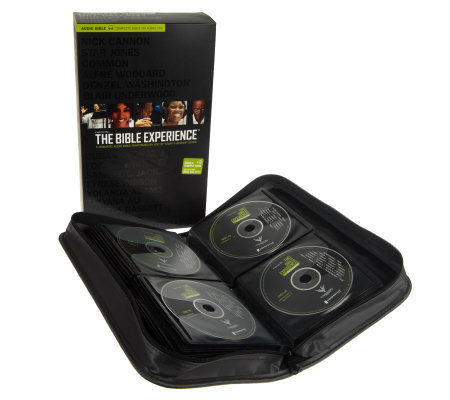 The Bible Experience Complete Bible on CD, DVD and Carrying Case