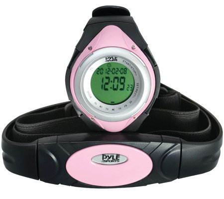 Pyle PHRM38PN Heart Rate Monitor Watch - Pink