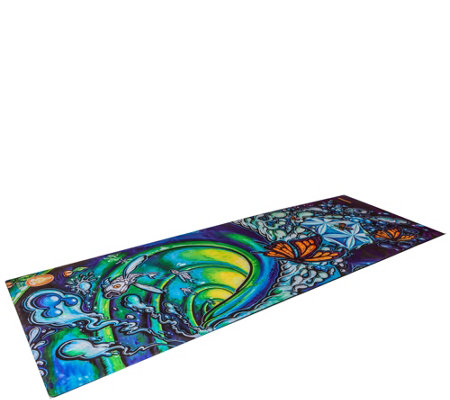 Spiritual Revolution Flower of Life Inspirational Yoga Mat