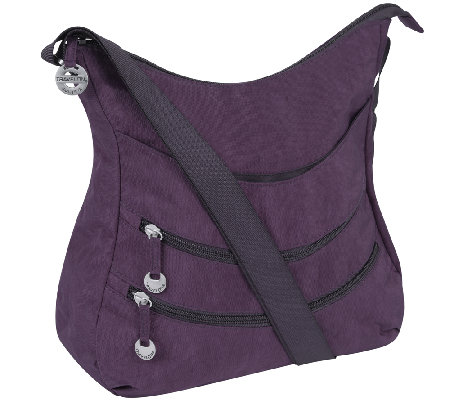 Travelon Slouch Hobo Bag with Front Pockets - Page 1 — QVC.com