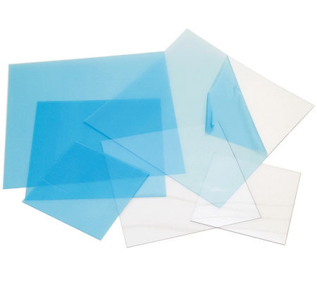 Craft Plastic Sheets 12X12 4/Pkg-Clear .020