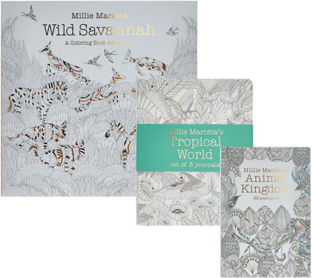 Millie Marotta Wild Savannah Adult Coloring Books & Journal Set