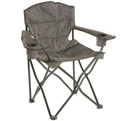 quik chair heavy duty pillow arm chair with carry bag