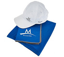 Mission Cooling Towel, Performance Hat and 5-in-1 Multi-Cool Set - F12332
