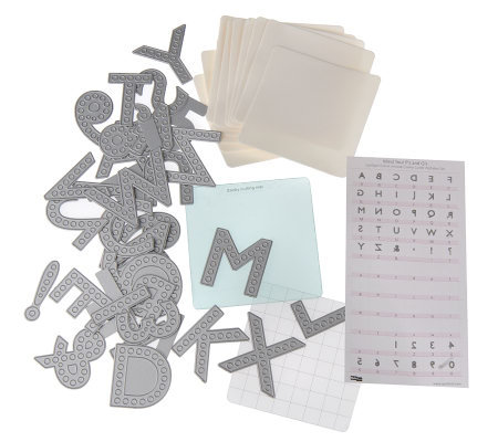 QuicKutz Cookie Cutter Spotlight Alphabet Die Set