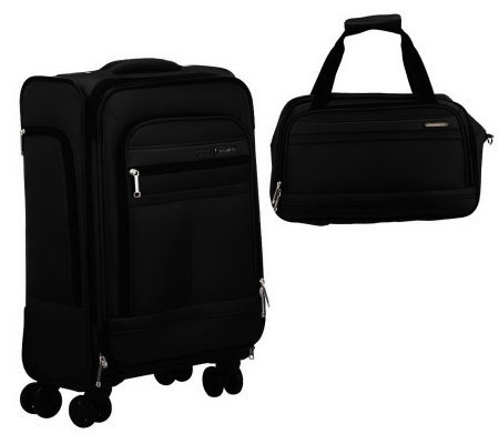 samsonite expandable spinner pilot case w boarding bag page 1. Black Bedroom Furniture Sets. Home Design Ideas
