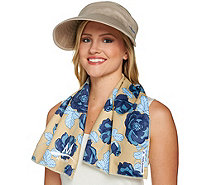 Mission Large Cooling Towel and 2-in-1 Cooling Sun Hat Set - F12333
